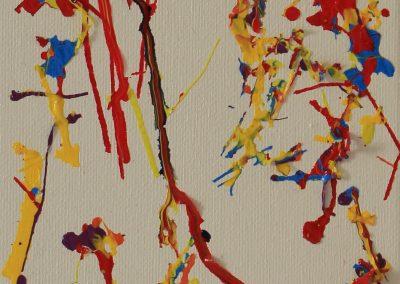 Neuroimaging, 17 x 13cm mixed media on canvas