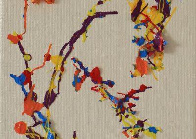 Beta Values, 17 x 13cm mixed media on canvas