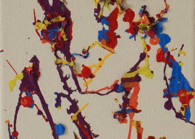 Orbital Gyrus, 17 x 13cm mixed media on canvas