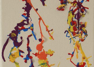 Experimental Stimuli, 17 x 13cm mixed media on canvas (4)