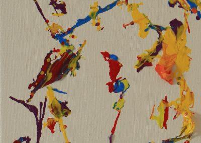 Spatial Imitation, 17 x 13cm mixed media on canvas (6)